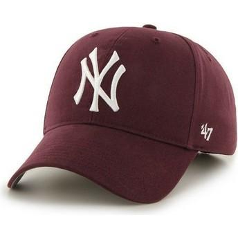 Gorra curva granate de New York Yankees MLB de 47 Brand