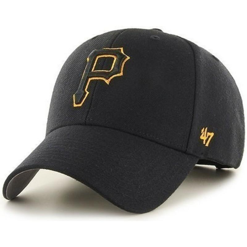 Gorra curva negra de Pittsburgh Pirates MLB de 47 Brand  comprar ... e38fca168d4