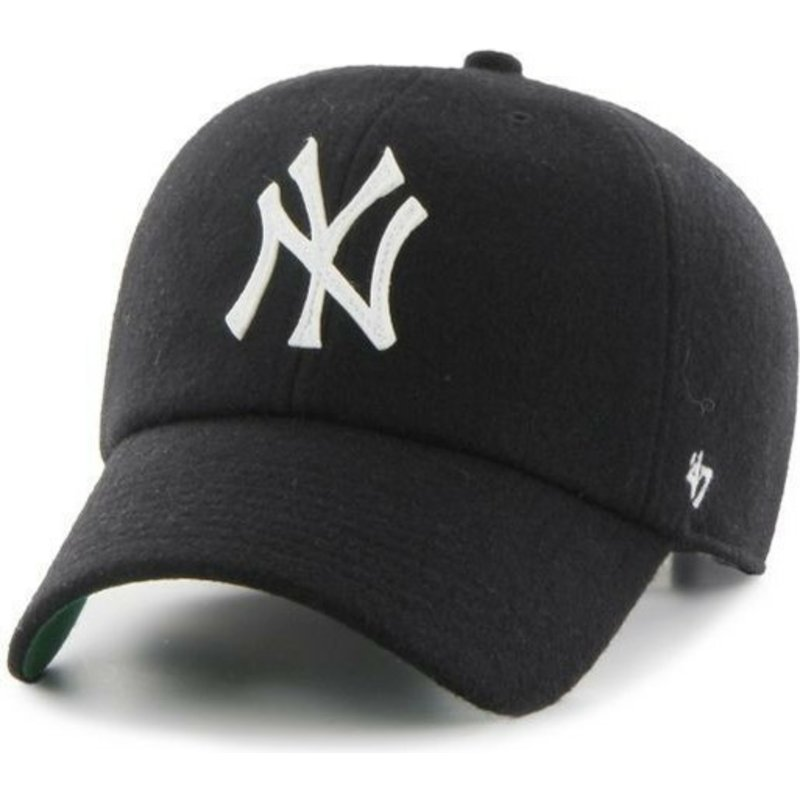 gorra-curva-negra-con-cinta-de-piel-de-new-york-yankees-mlb-clean-up-de-47-brand