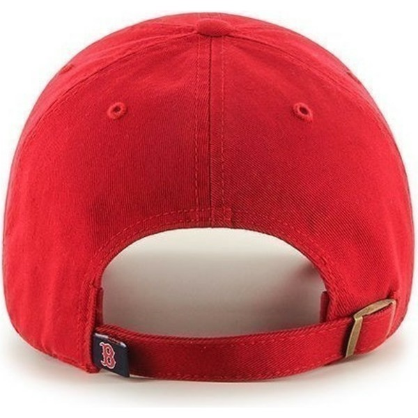 gorra-curva-roja-de-boston-red-sox-mlb-clean-up-de-47-brand