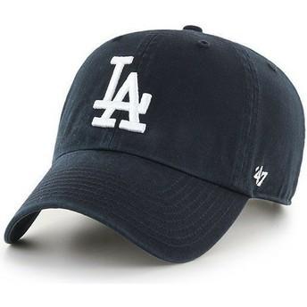 Gorra curva negra de Los Angeles Dodgers MLB Clean Up de 47 Brand
