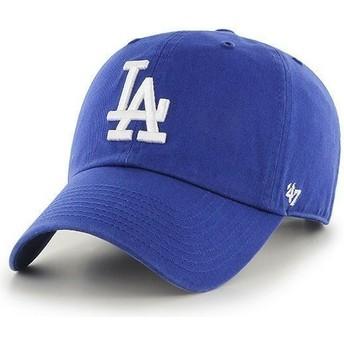 Gorra curva azul de Los Angeles Dodgers MLB Clean Up de 47 Brand