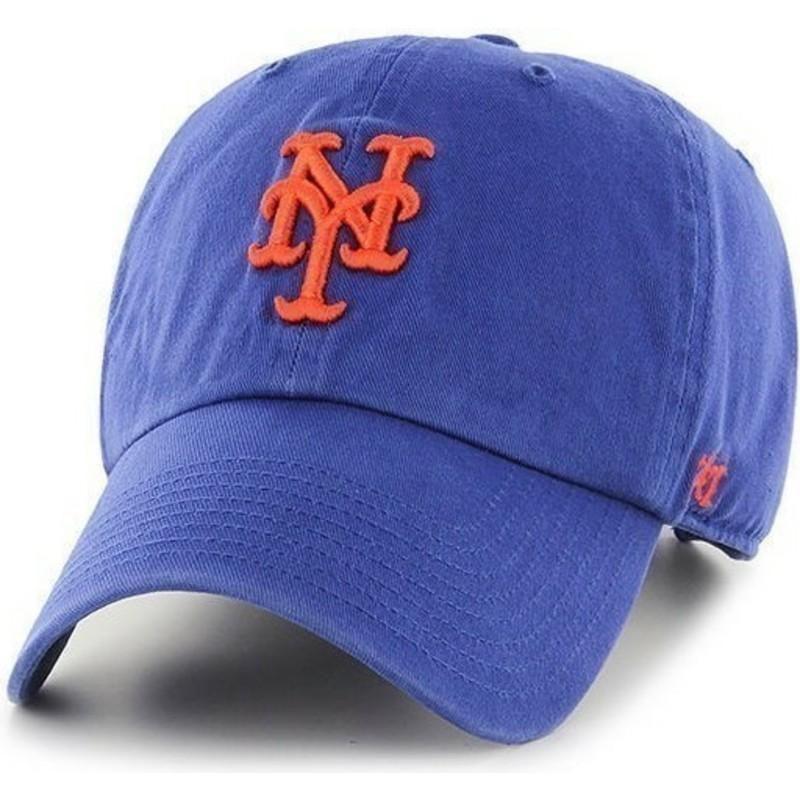 9d828ea41576a Gorra curva azul de New York Mets MLB Clean Up de 47 Brand  comprar ...