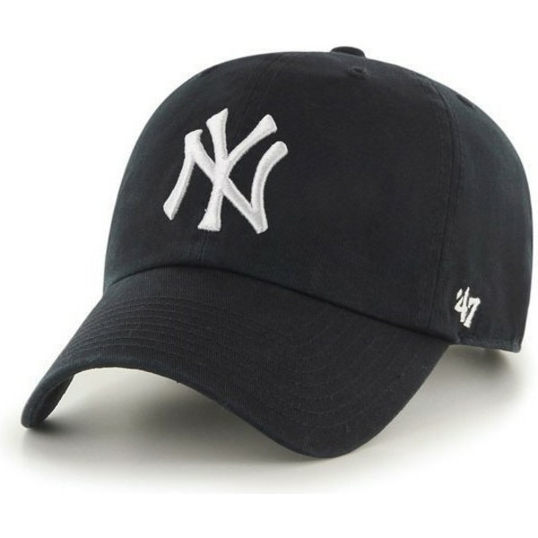 gorra-curva-negra-de-new-york-yankees-mlb-clean-up-de-47-brand