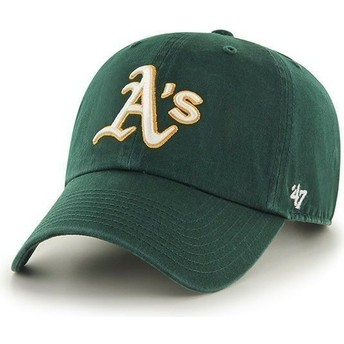 Gorra curva verde de Oakland Athletics MLB Clean Up de 47 Brand