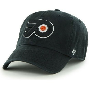 Gorra curva negra de Philadelphia Flyers NHL Clean Up de 47 Brand