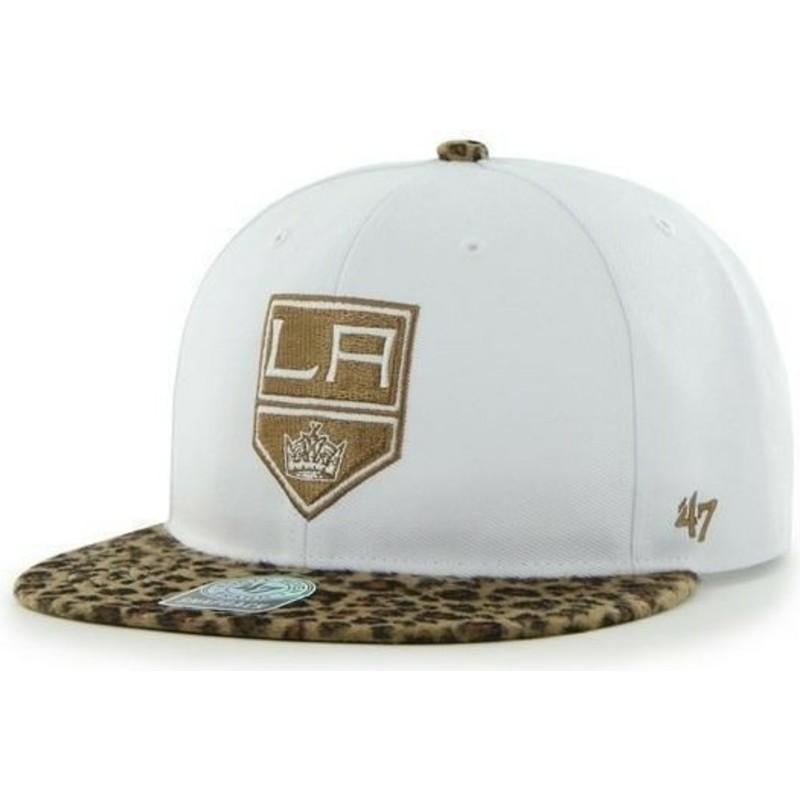Gorra plana blanca y leopardo snapback de Los Angeles Kings NHL de ... acc6d06f3af