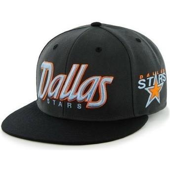 Gorra plana negra snapback con logo de letras de Dallas Stars NHL de 47 Brand