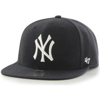 Gorra plana azul marino snapback liso de MLB New York Yankees de 47 Brand