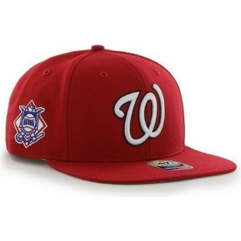 gorra-plana-roja-snapback-lisa-con-logo-lateral-de-mlb-washington-nationals-de-47-brand