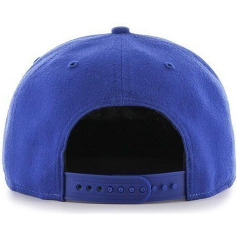 feaef0e5ccd4e ... MLB Chicago Cubs de 47 Brand. gorra-plana-azul-snapback-lisa-con-logo- lateral-