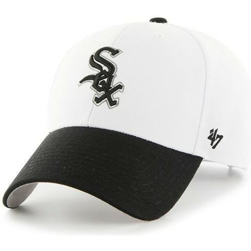 Gorra visera curva blanca y visera negra de MLB Chicago White Sox de ... b5b7c9d9310