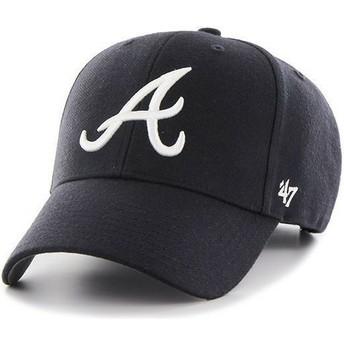 Gorra visera curva azul marino lisa de MLB Atlanta Braves de 47 Brand