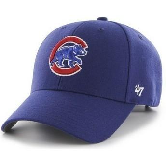 Gorra visera curva azul lisa de MLB Chicago Cubs de 47 Brand