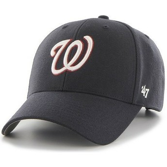 Gorra visera curva azul marino lisa de NHL Washington Nationals de 47 Brand