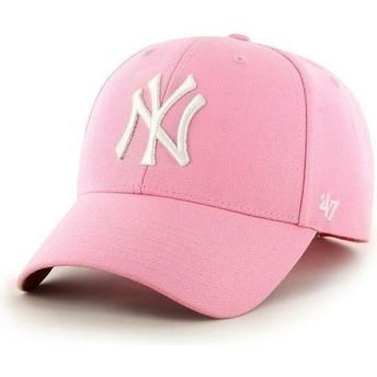 Gorra visera curva rosa lisa de MLB New York Yankees de 47 Brand