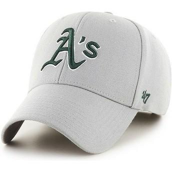 Gorra visera curva gris lisa de MLB Oakland Athletics de 47 Brand