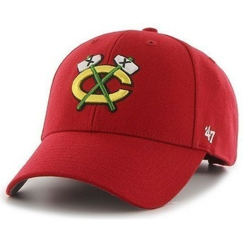 Gorra visera curva roja de NHL Chicago Blackhawks de 47 Brand