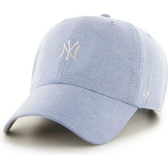 Gorra visera curva azul con logo pequeño de MLB New York Yankees de 47 Brand