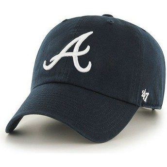 Gorra visera curva azul marino con logo frontal de MLB Atlanta Braves de 47 Brand