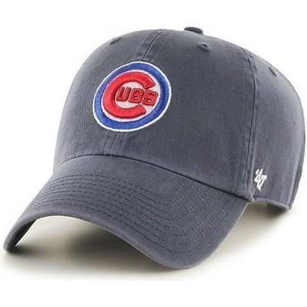 Gorra visera curva azul marino con logo frontal de MLB Chicago Cubs de 47 Brand