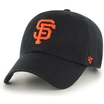 Gorra visera curva negra con logo frontal grande de MLB San Francisco Giants de 47 Brand