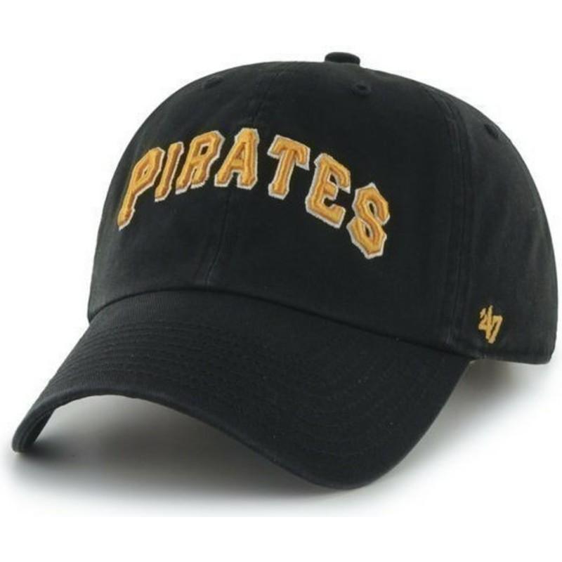 Gorra visera curva negra con nombre frontal grande de MLB Pittsburgh ... f3bfbc4b399