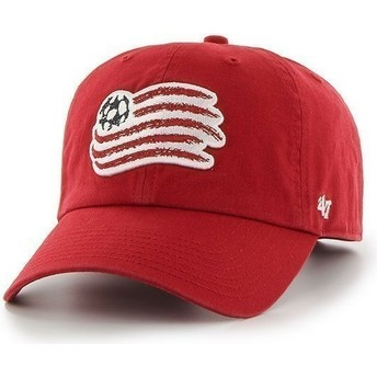Gorra visera curva roja con logo frontal grande de New England Revolution FC de 47 Brand