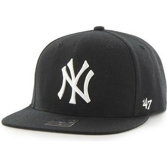 Gorra plana negra snapback para niño de New York Yankees MLB de 47 Brand