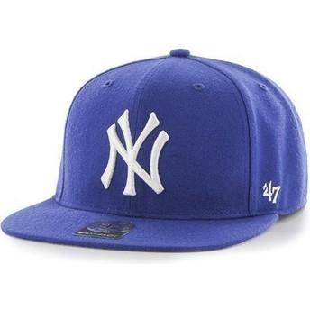 Gorra plana azul snapback para niño de New York Yankees MLB de 47 Brand