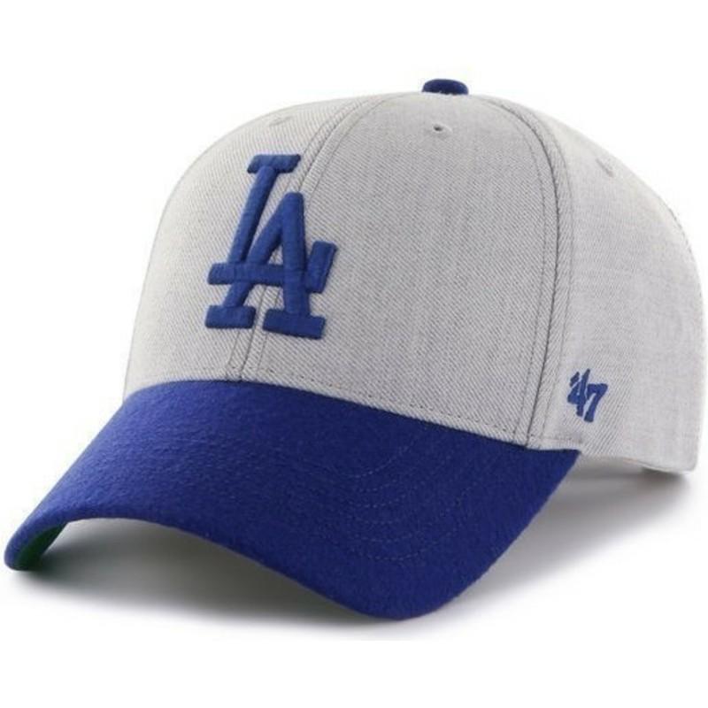 a485182bc55b7 Gorra curva gris con logo azul de Los Angeles Dodgers MLB de 47 ...