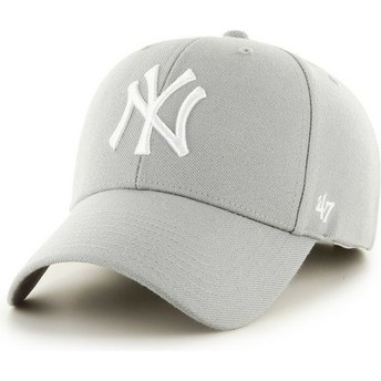 Gorra curva gris de New York Yankees MLB de 47 Brand