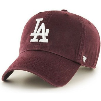 Gorra curva granate de Los Angeles Dodgers MLB Clean Up de 47 Brand