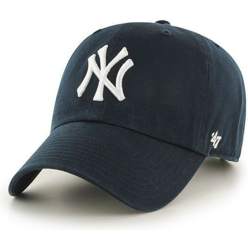 Gorra curva azul marino de New York Yankees MLB Clean Up de 47 Brand 8274672f3dc