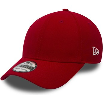 Gorra curva roja ajustada 39THIRTY Basic Flag de New Era