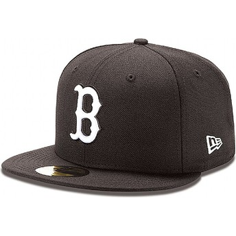 Gorra plana negra ajustada 59FIFTY Essential de Boston Red Sox MLB de New Era