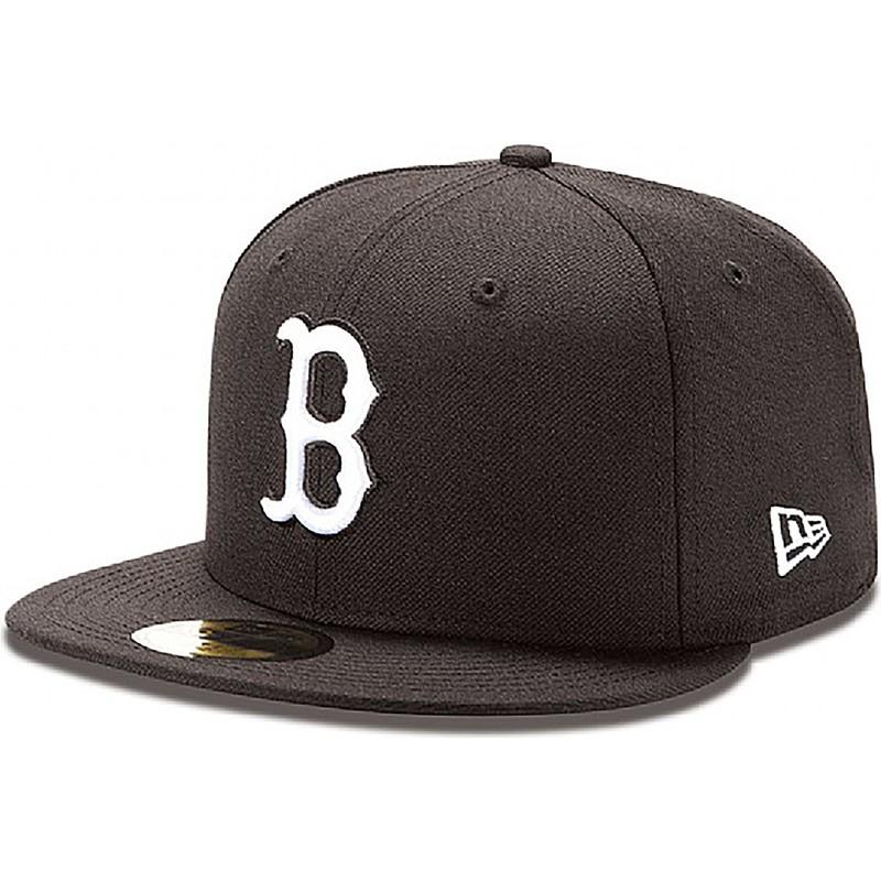 5ea6349de4ac5 Gorra plana negra ajustada 59FIFTY Essential de Boston Red Sox MLB ...