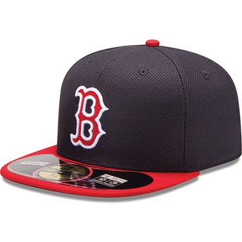 Gorra plana roja ajustada 59FIFTY Diamond Era de Boston Red Sox MLB de New Era