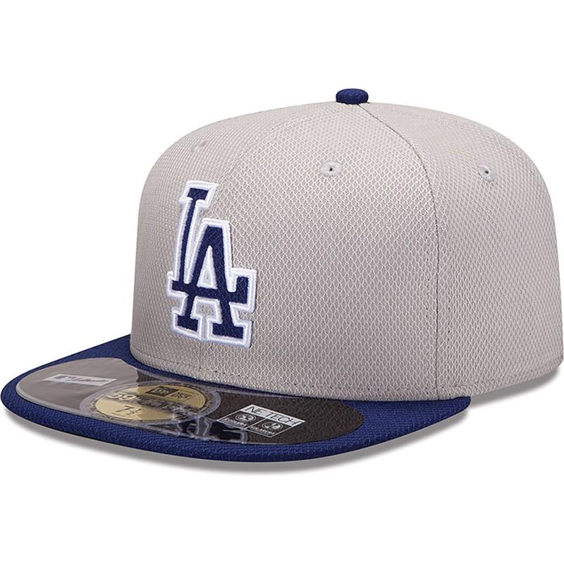 5bcf87273063e Gorra plana azul ajustada 59FIFTY Diamond Era de Los Angeles Dodgers ...