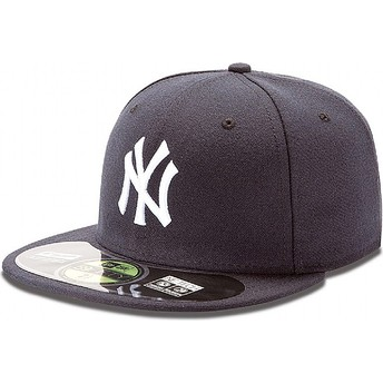 Gorra plana azul marino ajustada 59FIFTY Authentic On-Field de New York Yankees MLB de New Era