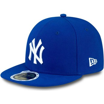 Gorra plana azul ajustada para niño 59FIFTY Essential de New York Yankees MLB de New Era
