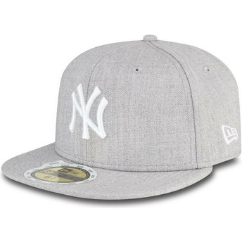 Gorra plana gris ajustada para niño 59FIFTY Essential de New York Yankees MLB de New Era