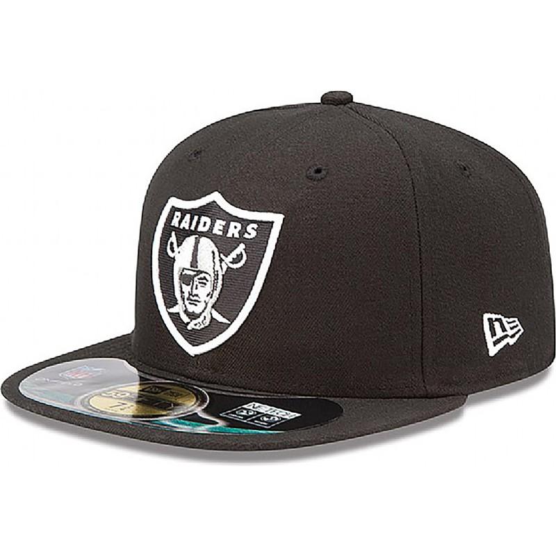 8b0f1cafd2d2b Gorra plana negra ajustada 59FIFTY Authentic On-Field Game de ...