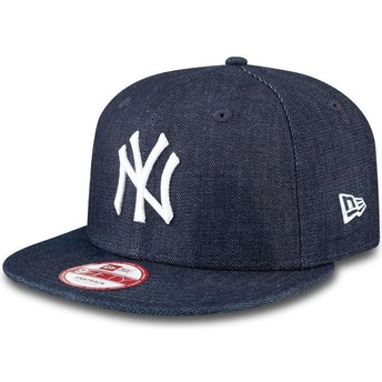 Gorra plana azul marino snapback 9FIFTY Essential Denim de New York Yankees MLB de New Era