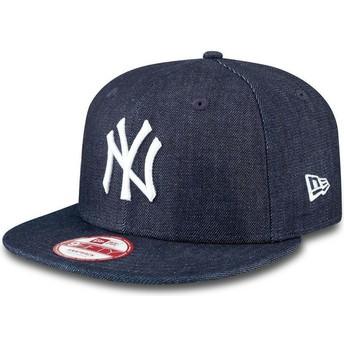 Gorra plana azul marino snapback 9FIFTY Essential Denim de New York Yankees MLB de New Era