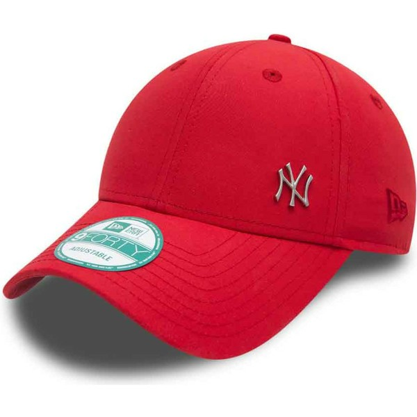 Gorra curva roja ajustable 9FORTY Flawless Logo de New York Yankees ... 875dc661b11