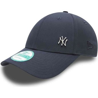 Gorra curva azul marino ajustable 9FORTY Flawless Logo de New York Yankees MLB de New Era