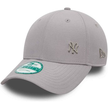 Gorra curva gris ajustable 9FORTY Flawless Logo de New York Yankees MLB de New Era