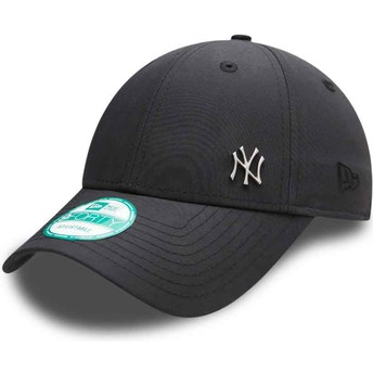 Gorra curva negra ajustable 9FORTY Flawless Logo de New York Yankees MLB de New Era