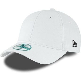 Gorra curva blanca ajustable 9FORTY Basic Flag de New Era